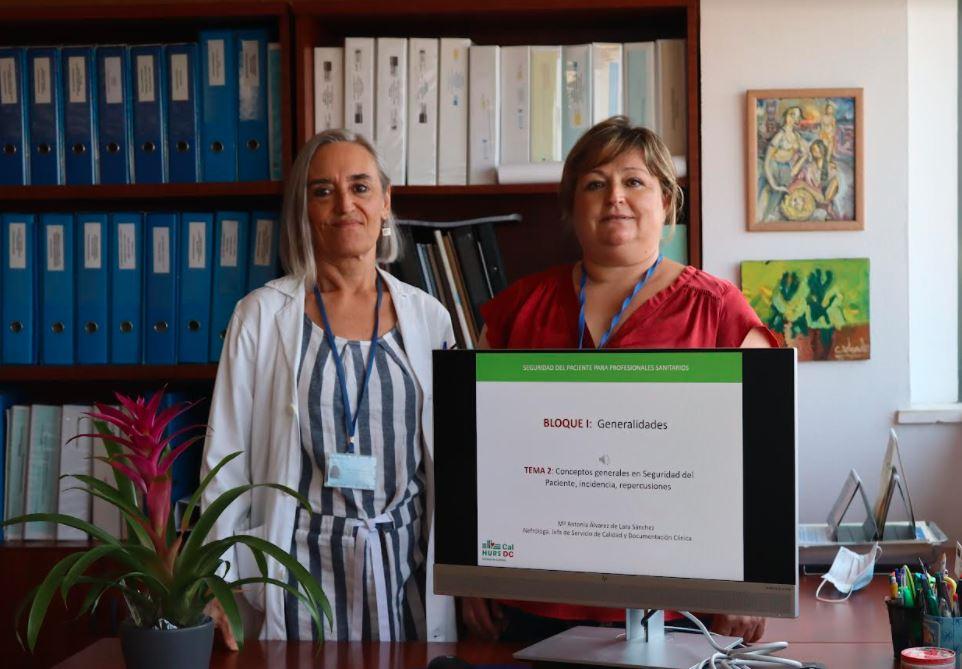 María  Antonia Álvarez de Lara responsable Unidad de Calidad y la informática Mari Carmen Domínguez
