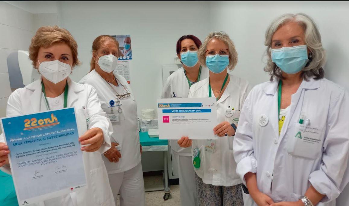 Premian al Hospital Virgen de las Nieves por un protocolo para reducir la flebitis